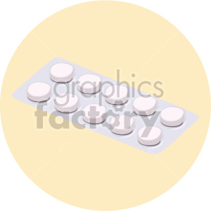 pill container on yellow background clipart. Royalty-free image # 408225