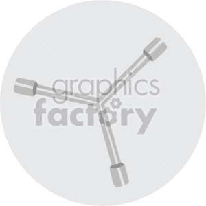 wheel lug nut wrench on circle background clipart. Commercial use image # 408287