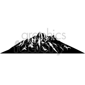 dark mode mountain clipart. Royalty-free image # 408320