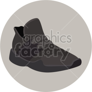 brown walking shoe on circle design clipart. Commercial use image # 408326