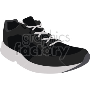 black sneaker clipart. Commercial use image # 408327