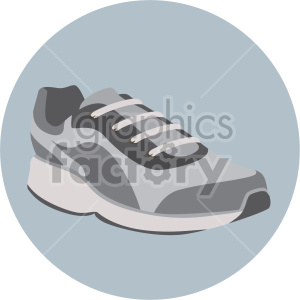 walking shoe on blue circle background clipart. Commercial use image # 408335