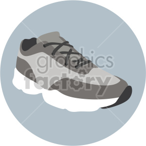 running shoe with circle design clipart. Commercial use image # 408345