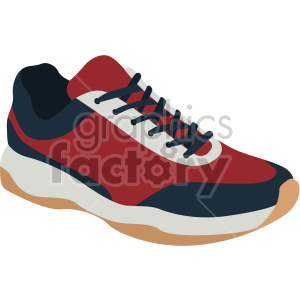 red walking shoe clipart. Commercial use image # 408353