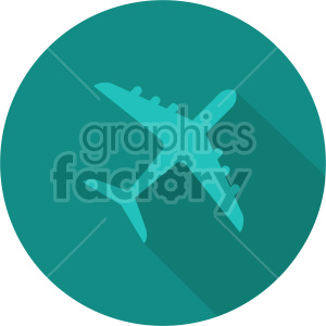 commercial airplane aqua circle icon clipart. Commercial use image # 408425
