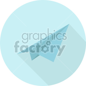 paper airplane on blue circle background icon clipart. Royalty-free image # 408430