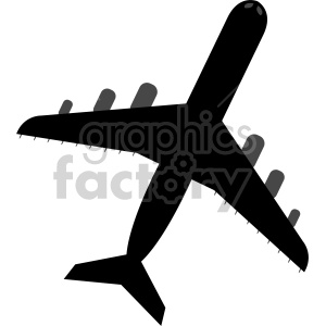 top view of commercial airplane clipart. Commercial use image # 408435