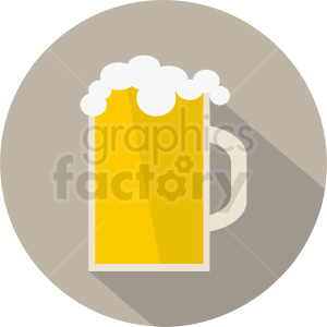 beer icon on circle background clipart. Royalty-free image # 408452