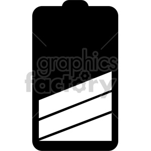 battery icon design v3 clipart. Commercial use image # 408477