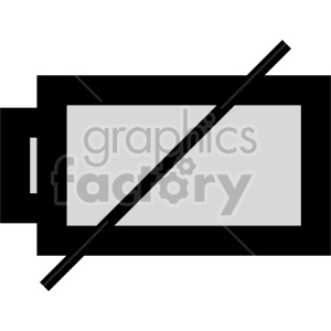 battery dead vector clipart. Commercial use image # 408480