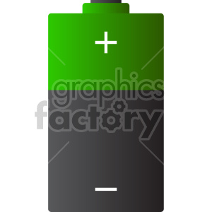 battery graphic clipart. Royalty-free image # 408482