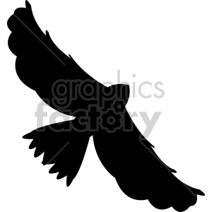 hawk flying silhouette vector