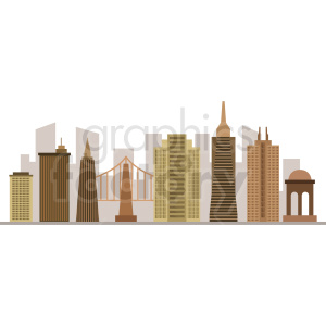 san francisco city vector design no label clipart. Commercial use image # 408515
