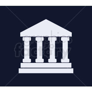 museum vector icon on dark background clipart. Commercial use image # 408532