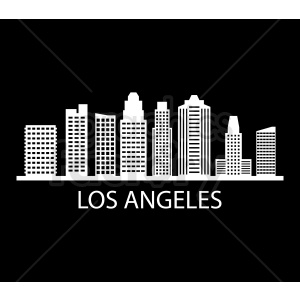 downtown los angeles vector on black clipart. Royalty-free image # 408545