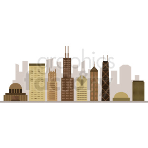 chicago city buildings vector clipart. Royalty-free image # 408550
