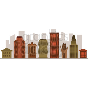 los angeles skyline vector no LA label clipart. Royalty-free image # 408577