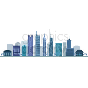 chicago city vector skyline clipart. Commercial use image # 408587