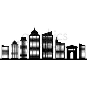 black philadelphia city skyline vector no label clipart. Commercial use image # 408615