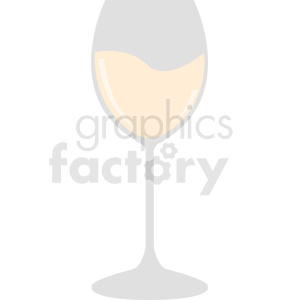 white wine glass cartoon design clipart. Commercial use image # 408657