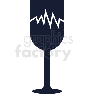 broken glass outline vector clipart. Royalty-free image # 408675