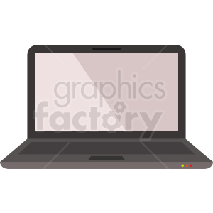 laptop computer vector clipart. Royalty-free image # 408717