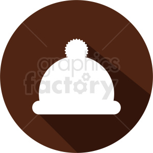 brown beanie winter hat icon circle background clipart. Royalty-free image # 408725