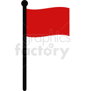 red flag icon no background clipart. Royalty-free image # 408765
