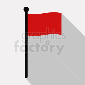 red flag icon square background clipart. Royalty-free image # 408777