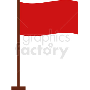 small red flag icon no background clipart. Royalty-free image # 408807