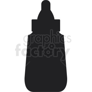 mustard bottle silhouette clipart. Royalty-free image # 408882