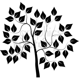 black tree design clipart. Royalty-free image # 408935