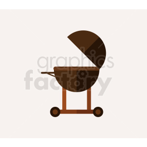 vector open grill flat icon design clipart. Royalty-free image # 408977