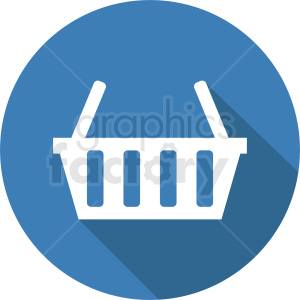 vector picnic basket icon design on blue background clipart. Royalty-free image # 408982