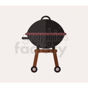 vector grill flat icon design clipart. Royalty-free image # 408997