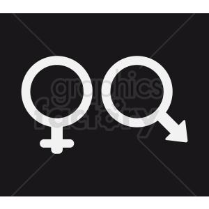 gender symbol on black background clipart. Royalty-free image # 409032