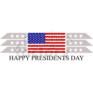 happy presidents day design clipart. Royalty-free image # 409035