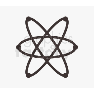 atom design without nucleus clipart. Royalty-free image # 409048