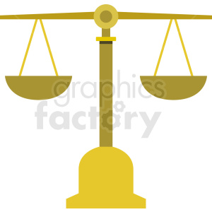 yellow justice scale vector clipart. Commercial use image # 409083