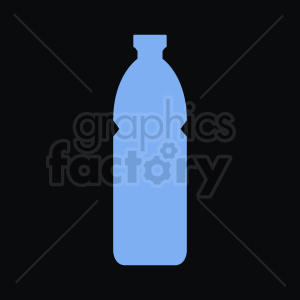 blue bottle silhouette black background clipart. Royalty-free image # 409123