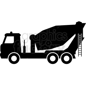 cement truck vector outline clipart. Royalty-free image # 409128