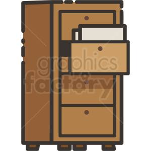 filing cabinet icon clipart. Royalty-free icon # 409152