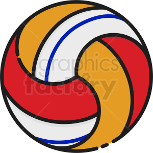 volleyball icon clipart. Commercial use image # 409158