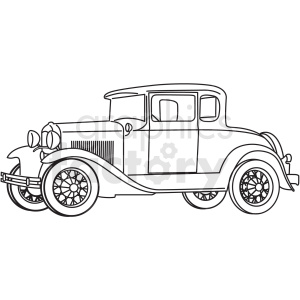1931 model t ford outline vector clipart. Royalty-free image # 409248