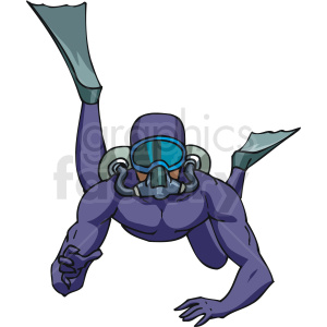 scuba diver underwater clipart. Commercial use image # 169970