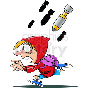 cartoon refugee being bombed no background clipart. Royalty-free image # 409333