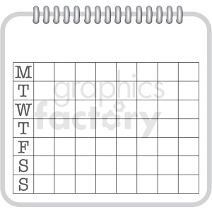 7 day log chart clipart. Commercial use image # 409360