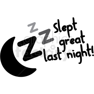 slept great last night digital planner sticker clipart. Royalty-free image # 409378