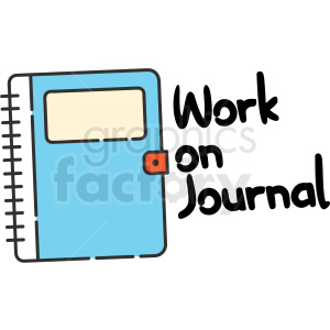 work on journal digital planner sticker clipart. Royalty-free image # 409390