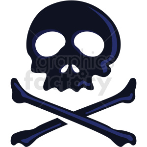 skull vector clipart no background